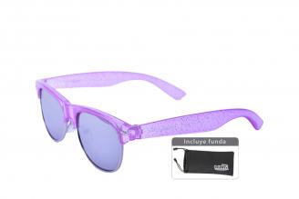 Gafas De Sol Infantiles Suntwister Cute F1 Policarbonato Color Violeta Empaque Con 1 Unidad