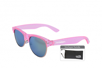 Gafas De Sol Infantiles Suntwister Cute F1 Policarbonato Color Rosado Empaque Con 1 Unidad