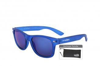 Gafas De Sol Infantiles Suntwister Sporty M2 Policarbonato Color Azul Empaque Con 1 Unidad