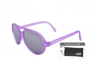 Gafas De Sol Infantiles Suntwister Sporty F1 Policarbonato Color Violeta Empaque Con 1 Unidad