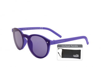 Gafas De Sol Infantiles Suntwister Sporty M1 Policarbonato Color Violeta Empaque Con 1 Unidad