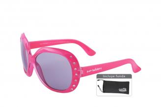 Gafas De Sol Infantiles Suntwister Fashion F3 Policarbonato Color Rosado Empaque Con 1 Unidad