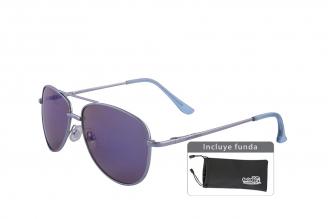 Gafas De Sol Infantiles Suntwister Fash U1 Policarbonato Color Plateado Empaque Con 1 Unidad