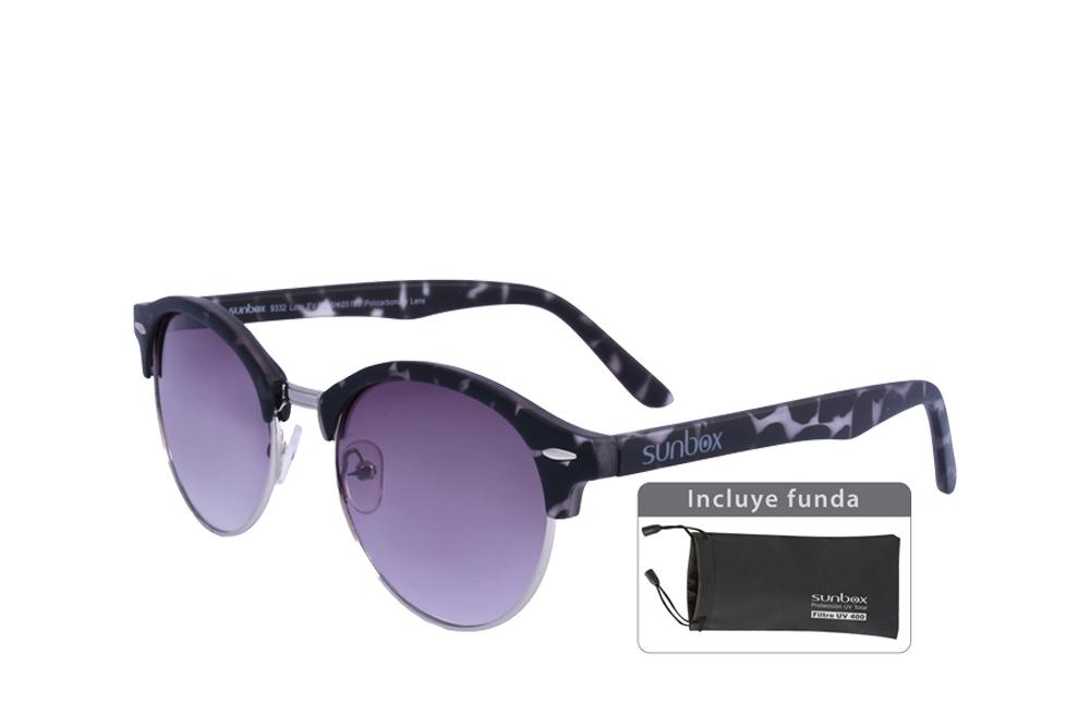 Gafas De Sol Sunbox Platinum M2 Policarbonato Color Gris Empaque Con 1 Unidad