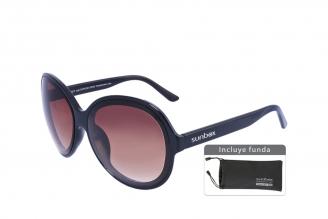 Gafas De Sol Sunbox Maxim F2 Policarbonato Color Negro Empaque Con 1 Unidad