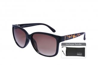 Gafas De Sol Sunbox Platinum F3 Policarbonato Color Café Empaque Con 1 Unidad