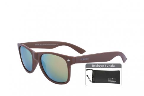 Gafas De Sol Sunbox Maxim F3 Policarbonato Color Café Empaque Con 1 Unidad