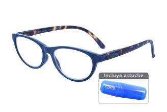 Gafas De Lectura Pregraduadas Zoom To Go Colors +3.00 Color Azul Empaque Con 1 Unidad