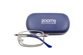 Gafas De Lectura Pregraduadas Zoom To Go Plegable +2.50 Color Azul Empaque Con 1 Unidad