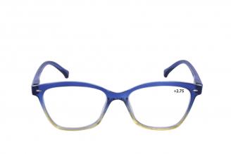 Gafas De Lectura Pregraduadas Zoom To Go Colors +2.75 Color Azul Empaque Con 1 Unidad