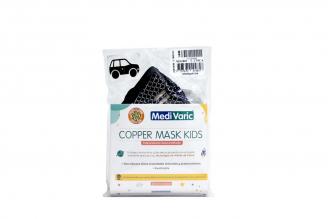Tapabocas Copper Mask Kids Niño Negro En Hila De Cobre Empaque Con 1 Unidad