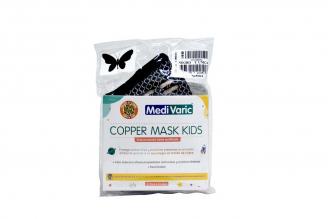 Tapabocas Copper Mask Kids Niña Negro En Hila De Cobre Empaque Con 1 Unidad