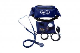 Kit De Tensiómetro Y Fonendoscopio GMD Rappaport Con Canguro - Azul Profundo