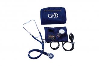 Kit De Tensiómetro Y Fonendoscopio GMD Rappaport Con Estuche - Azul Profundo