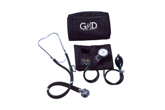 Kit De Tensiómetro Y Fonendoscopio GMD Rappaport Con Estuche - Negro