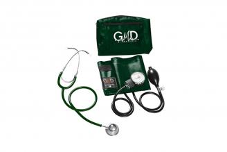 Kit de Tensiómetro y Fonendoscopio GMD Doble Campana - Verde Oscuro