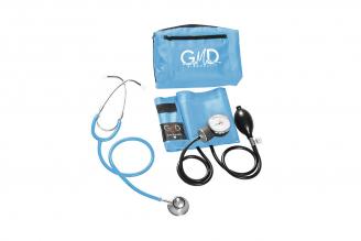 Kit de Tensiómetro y Fonendoscopio GMD Doble Campana - Azul Cielo
