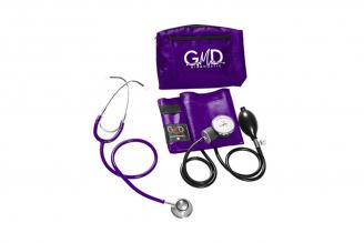 Kit de Tensiómetro y Fonendoscopio GMD Doble Campana - Púrpura 1 Unidad