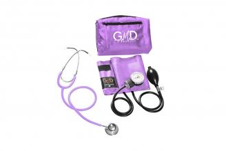 Kit de Tensiómetro y Fonendoscopio GMD Doble Campana - Púrpura Claro