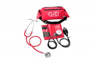 Kit de Tensiómetro y Fonendoscopio GMD Doble Campana - Rojo