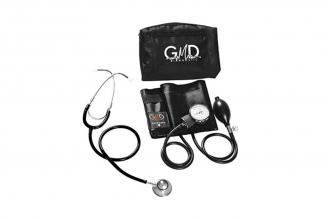 Kit de Tensiómetro y Fonendoscopio GMD Doble Campana - Negro Por 1 Unidad