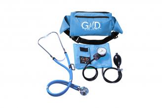 Kit De Tensiómetro Y Fonendoscopio GMD Rappaport Con Canguro - Azul Cielo