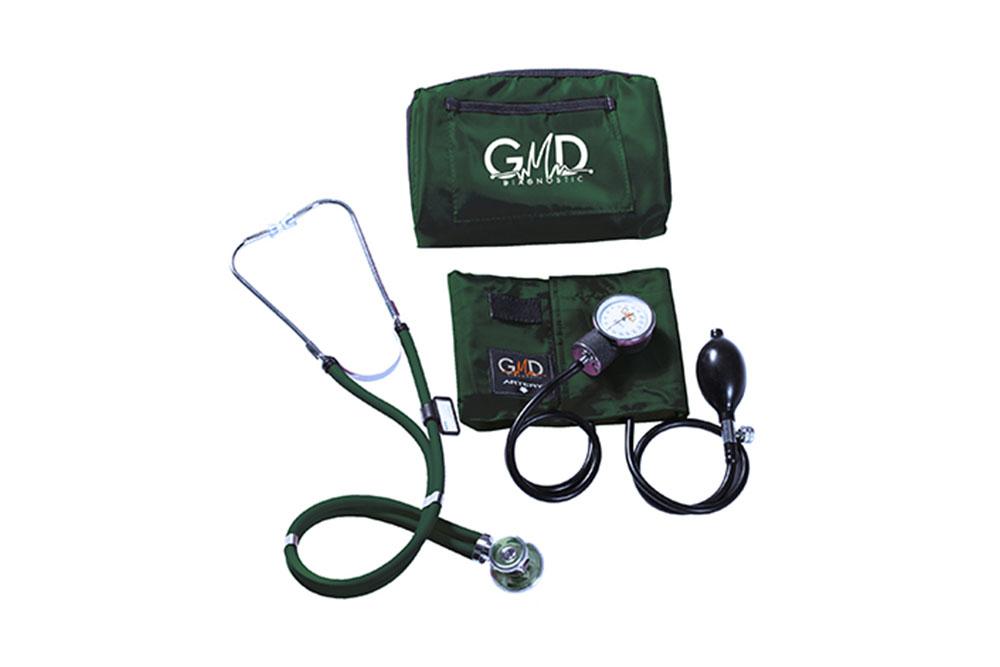 Kit De Tensiómetro Y Fonendoscopio GMD Rappaport Con 1 Estuche - Verde Oscuro