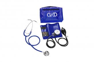Kit de Tensiómetro y Fonendoscopio GMD Doble Campana - Azul Cerúleo