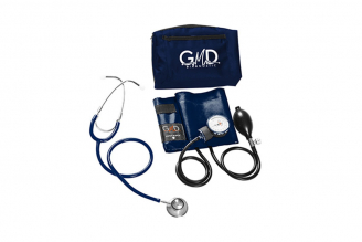 Kit de Tensiómetro y Fonendoscopio GMD Doble Campana - Azul Profundo