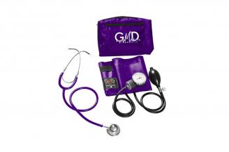 Kit de Tensiómetro y Fonendoscopio GMD Doble Campana - Púrpura Claro 1 Unidad