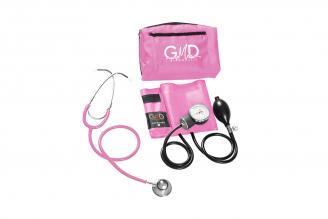 Kit de Tensiómetro y Fonendoscopio GMD Doble Campana - Rosa