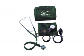 Kit De Tensiómetro Y Fonendoscopio GMD Rappaport Con Canguro - Verde Oscuro