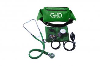 Kit De Tensiómetro Y Fonendoscopio GMD Rappaport Con Canguro - Verde