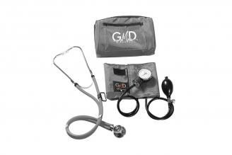 Kit De Tensiómetro Y Fonendoscopio GMD Rappaport Con Estuche - Gris