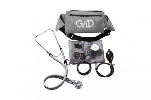 Kit De Tensiómetro Y Fonendoscopio GMD Rappaport Con Canguro - Gris