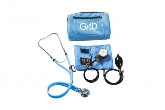 Kit Fusión Tensiómetro Y Fonendoscopio Rappaport GMD Con Estuche - Azul Cielo