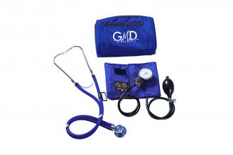 Kit Fusión Tensiómetro Y Fonendoscopio Rappaport GMD Con Estuche - Azul Cerúleo