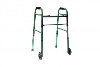 """Caminador con Ruedas de 5"""" Aluminio Anodizado Verde 1 Unidad"""