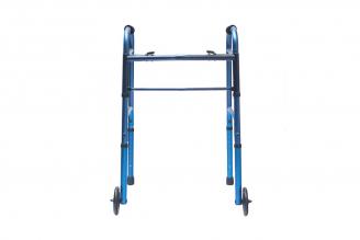 "Caminador con Ruedas de 5"" en Aluminio Anodizado Azul 1 Unidad"