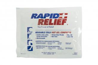 Compresa De Gel Caliente / Frío Reutilizable De 15 cm X 13 cm Rapid Relief 1 Unidad