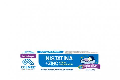 Nistatina + Oxido De Zinc Caja Con Tubo Con 60 g