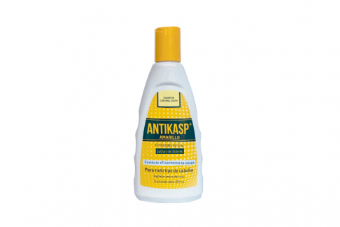 Shampoo Control Caspa Antikasp Amarillo Frasco Con 200 mL