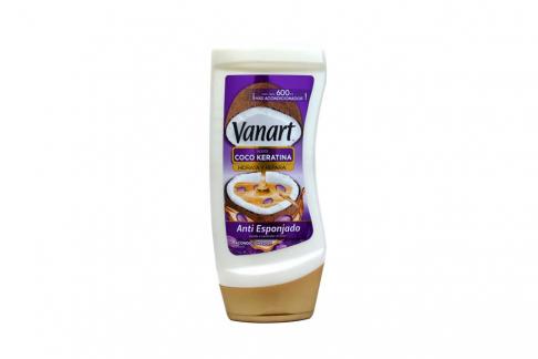 Acondicionador Vanart Coco-Keratina Antiesponjado Frasco Con 600 mL