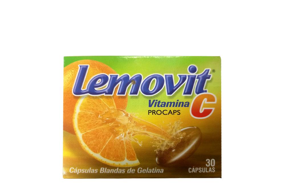 Lemovit C 500 mg Caja Con 30 Cápsulas