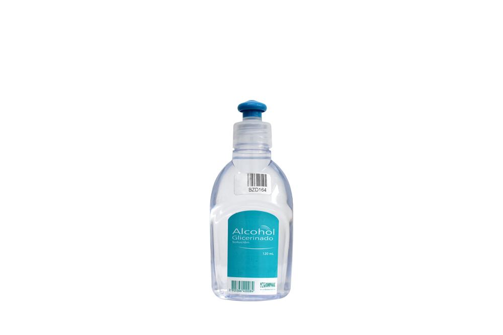 Alcohol Glicerinado Solución 70% Frasco Con 120 mL