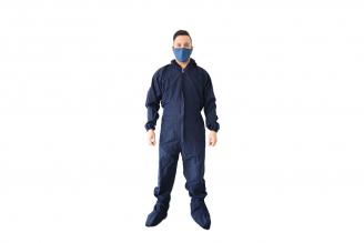 Traje Antifluido Azul Oscuro Hombre Talla L Empaque Con 1 Unidad