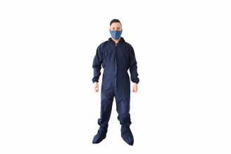 Traje Antifluido Azul Oscuro Mujer Talla 10 Empaque Con 1 Unidad
