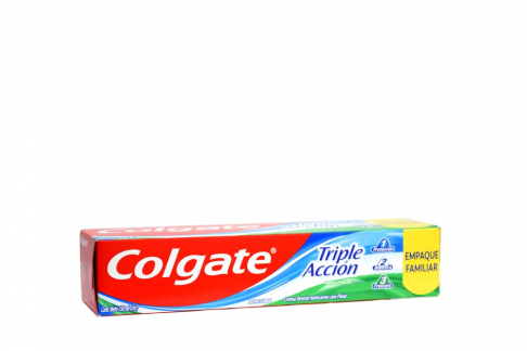 Crema Dental Colgate Triple Acción Empaque Familiar Caja Con Tubo Con 150 mL