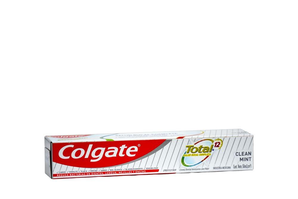 Crema Dental Colgate Total 12 Clean Mint Caja Con Tubo Con 50 mL