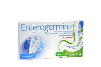 Enterogermina Suspensión Oral Caja Con 10 Frascos Con 5 mL C/U